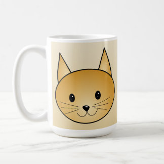 Gato. Gatito lindo del jengibre Tazas De Café