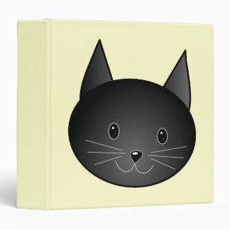 """Gato. Gatito negro adorable Carpeta 1 1/2"""""""