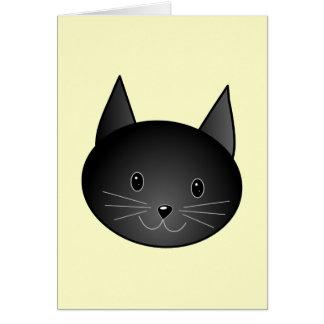 Gato. Gatito negro adorable Tarjeta Pequeña