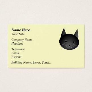 Gato. Gatito negro adorable Tarjetas De Visita