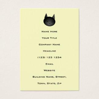 Gato. Gatito negro adorable Tarjetas De Visita Grandes