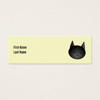 Gato. Gatito negro adorable Tarjetas De Visita Mini