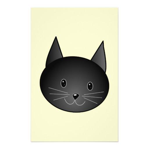 Gato. Gatito negro adorable Tarjetas Publicitarias