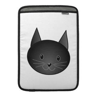 Gato. Gatito negro lindo Fundas Para Macbook Air