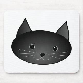 Gato. Gatito negro lindo Tapete De Raton