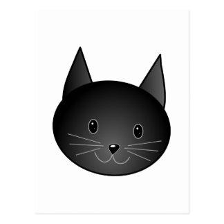 Gato. Gatito negro lindo Postal