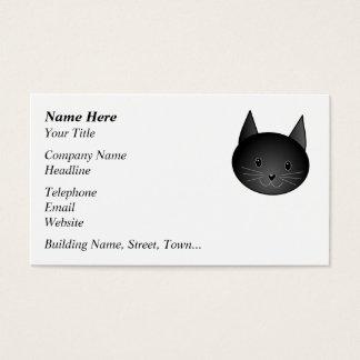 Gato. Gatito negro lindo Tarjetas De Visita