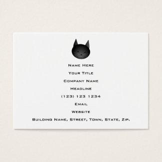 Gato. Gatito negro lindo Tarjetas De Visita Grandes