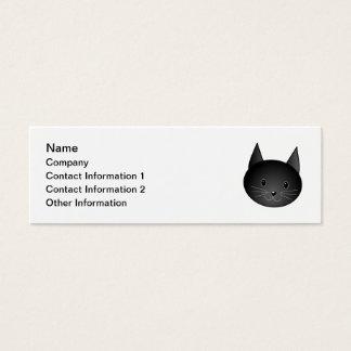 Gato. Gatito negro lindo Tarjetas De Visita Mini