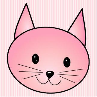 Gato. Gatito rosado bonito adorable Esculturas Fotográficas