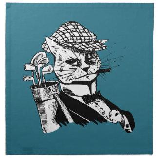 gato golfing divertido servilletas imprimidas