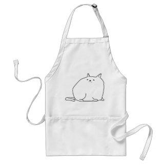 gato gordo delantal