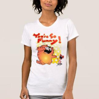 Gato gordo gordo T del dibujo animado del gato el Camisas