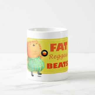 Gato gordo graso graso del reggae taza