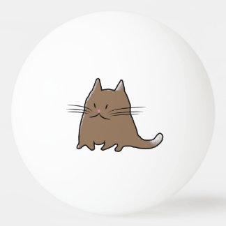 Gato gordo lindo pelota de tenis de mesa