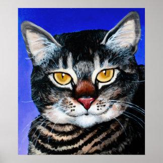 Gato gordo pintado póster