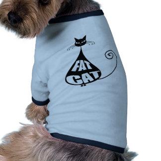 Gato gordo camisas de mascota