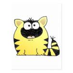 Gato gordo tarjetas postales