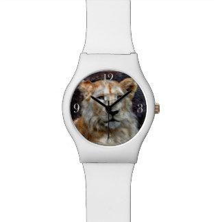 Gato grande blanco salvaje de Cub de león Relojes