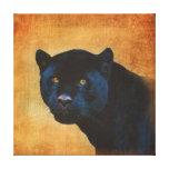 Gato grande negro con clase de Jaguar en BG Impresión En Lona Estirada