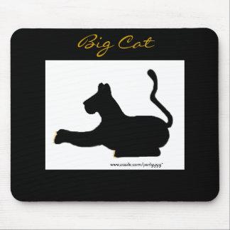Gato grande tapetes de raton