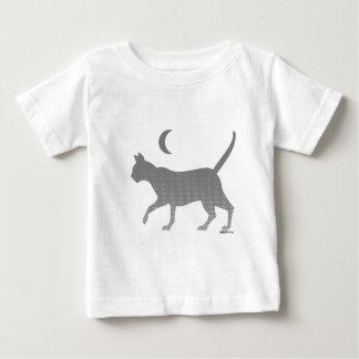 gato gris bajo la luna polera