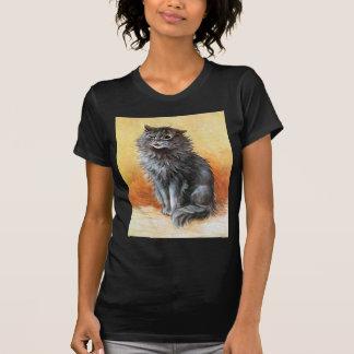 Gato gris camiseta