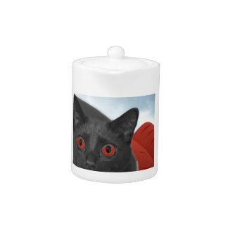 Gato gris con la imagen mezclada ojos del naranja