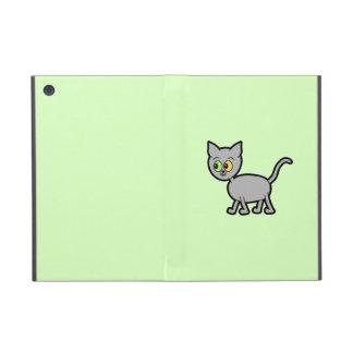 Gato gris con los ojos impares iPad mini funda