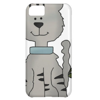 gato gris de la primavera funda para iPhone 5C