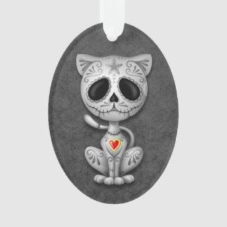 Gato gris del gatito del azúcar del zombi