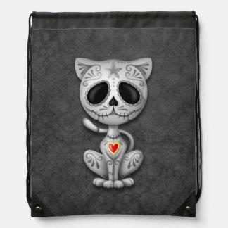 Gato gris del gatito del azúcar del zombi mochila