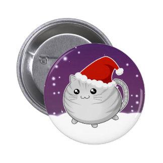 Gato gris del gatito del tabby del navidad de Kawa Pins