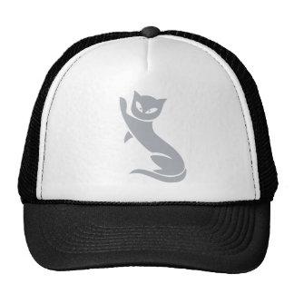 Gato gris elegante gorro