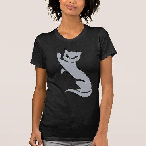 Gato gris elegante camisetas