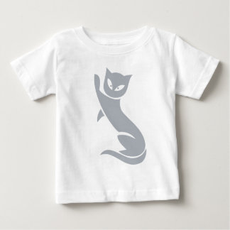 Gato gris elegante playeras