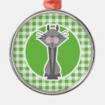 Gato gris; Guinga verde Adorno De Navidad