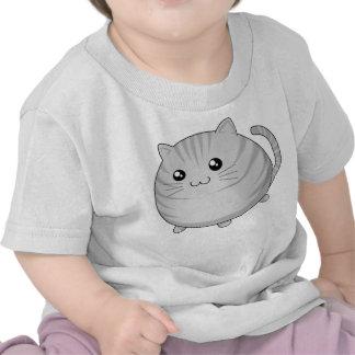 Gato gris lindo del gatito del tabby de Kawaii Camiseta
