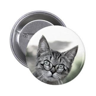 Gato gris personalizado con el botón de los pins