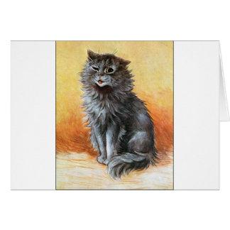 Gato gris tarjetas