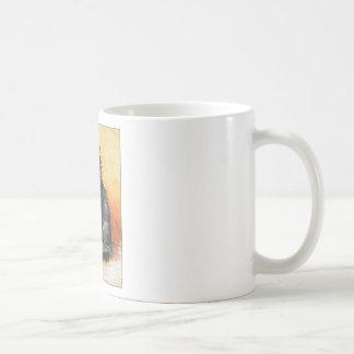 Gato gris taza