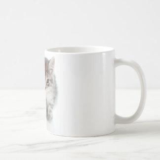 Gato gris taza clásica