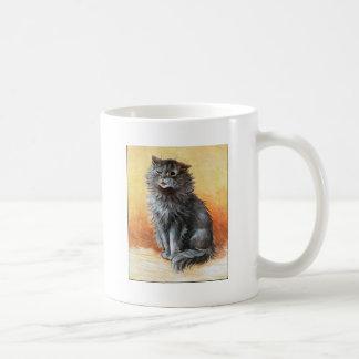 Gato gris tazas