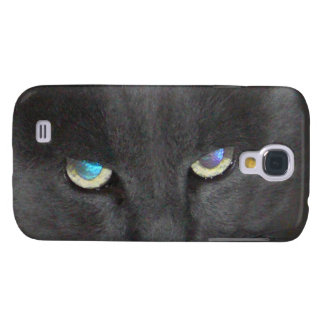 Gato gris único del gatito con los ojos coloreados carcasa para galaxy s4