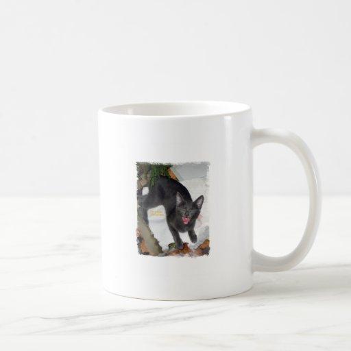 Gato gritador divertido taza de café