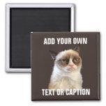 Gato gruñón - añada su propio texto imán de frigorifico