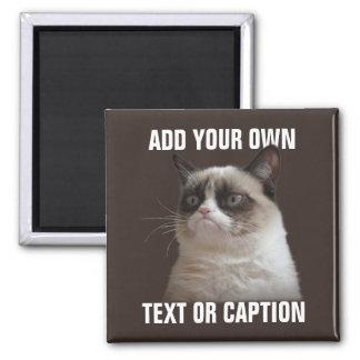 Gato gruñón - añada su propio texto imán para frigorifico
