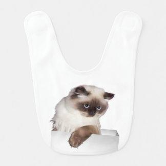 Gato gruñón baberos para bebé