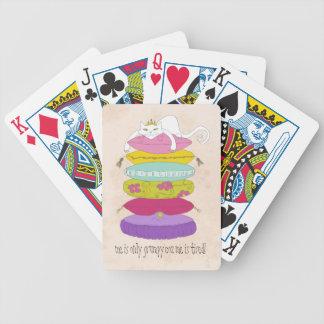Gato gruñón de la princesa y los dibujos animados cartas de juego
