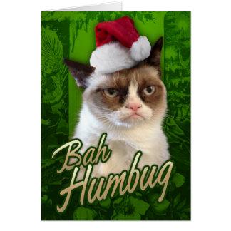 Gato gruñón del embaucamiento de Bah Tarjeta De Felicitación
